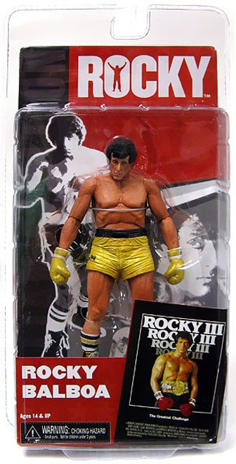 NECA Rocky III Series 3 Rocky Balboa Action Figure [Gold Trunks]