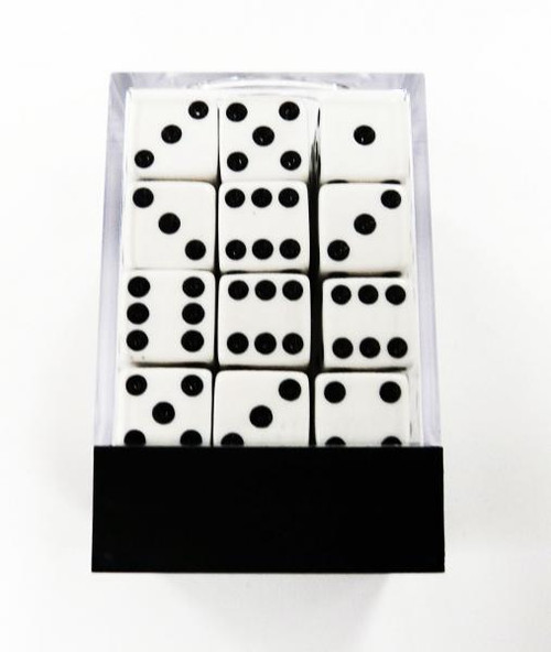 Chessex 6-Sided d6 The Brick 12mm Dice Pack Dice [Black]