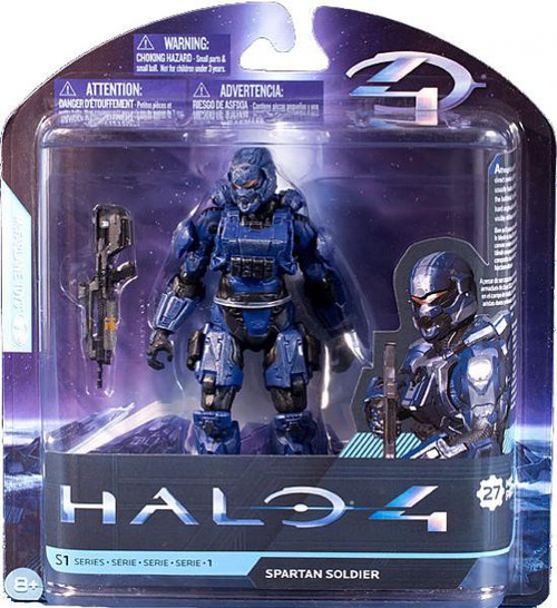 McFarlane Toys Halo 4 Series 1 Extended Spartan Soldier Action Figure [Blue]
