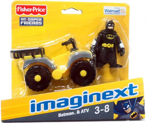 Fisher Price DC Super Friends Imaginext Batman & ATV Exclusive 3-Inch Figure Set