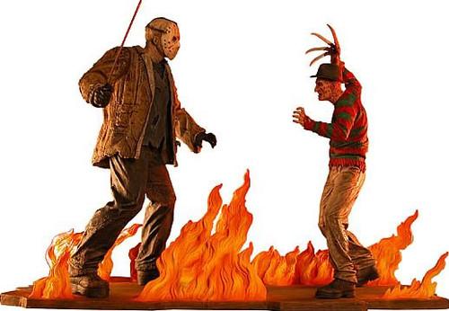NECA Freddy Vs Jason Freddy Krueger Vs. Jason Voorhees Statue