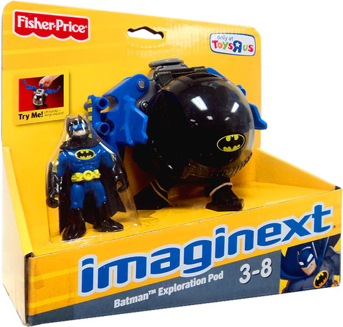 Fisher Price DC Super Friends Imaginext Batman Exploration Pod Exclusive 3-Inch Figure Set