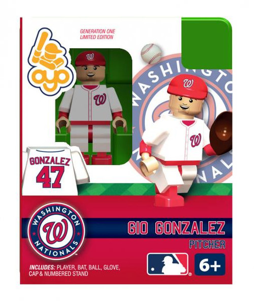 Washington Nationals MLB Generation One Gio Gonzalez Minifigure