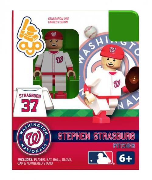 Washington Nationals MLB Generation One Stephen Strasburg Minifigure