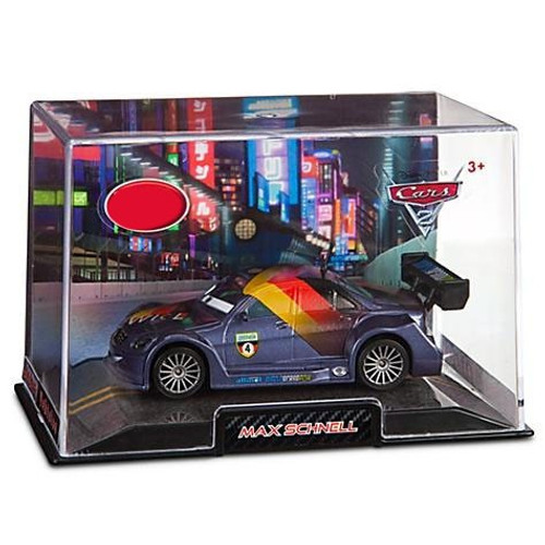 Disney Cars Cars 2 1:43 Collectors Case Max Schnell Exclusive Diecast Car