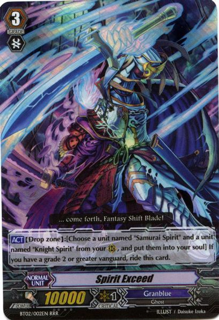 Cardfight Vanguard Onslaught of Dragon Souls RRR Spirit Exceed BT02-002