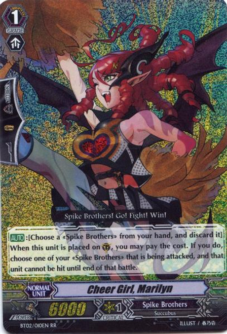 Cardfight Vanguard Onslaught of Dragon Souls RR Rare Cheer Girl, Marilyn BT02-010