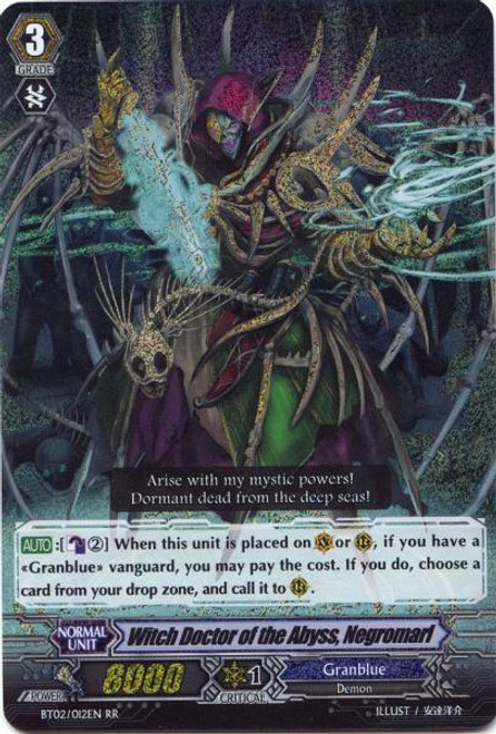 Cardfight Vanguard Onslaught of Dragon Souls RR Rare Witch Doctor of the Abyss, Negromarl BT02-012EN