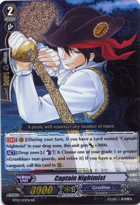 Cardfight Vanguard Onslaught of Dragon Souls RR Rare Captain Nightmist BT02-013