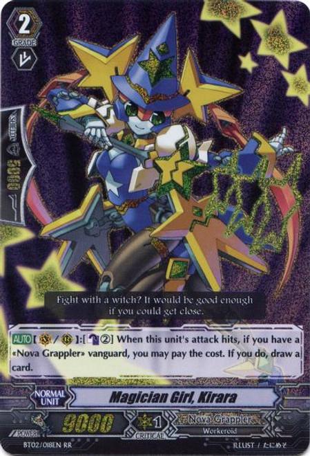 Cardfight Vanguard Onslaught of Dragon Souls RR Rare Magician Girl, Kirara BT02-018