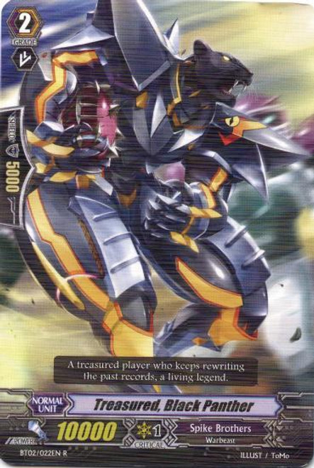 Cardfight Vanguard Onslaught of Dragon Souls Rare Treasured, Black Panther BT02-022