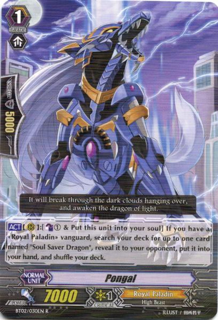 Cardfight Vanguard Onslaught of Dragon Souls Rare Pongal BT02-030