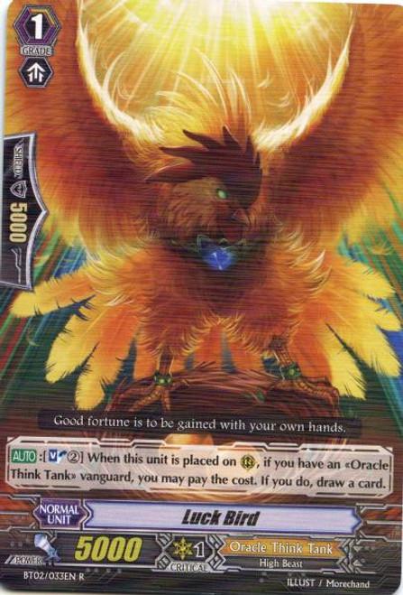 Cardfight Vanguard Onslaught of Dragon Souls Rare Luck Bird BT02-033