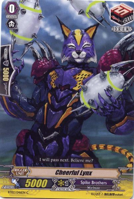 Cardfight Vanguard Onslaught of Dragon Souls Common Cheerful Lynx BT02-046