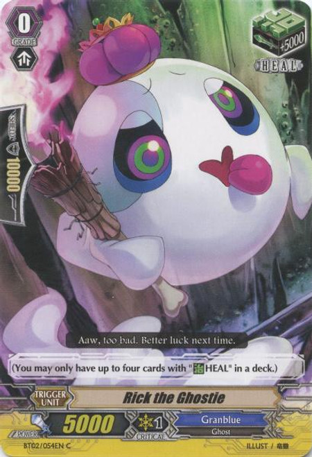 Cardfight Vanguard Onslaught of Dragon Souls Common Rick the Ghostie BT02-054