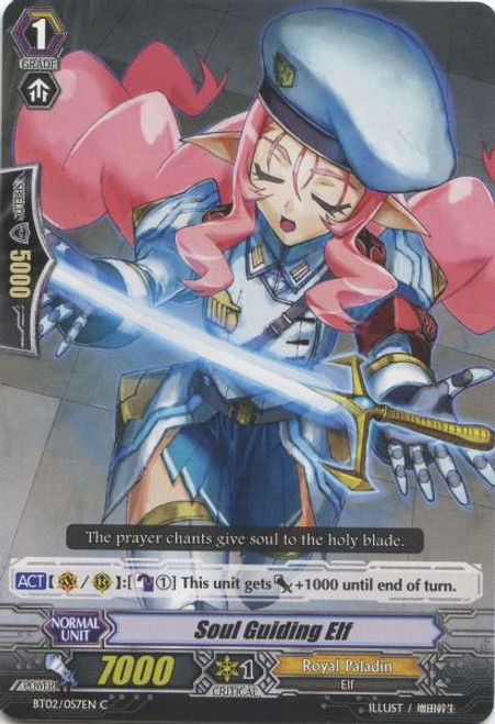 Cardfight Vanguard Onslaught of Dragon Souls Common Soul Guiding Elf BT02-057