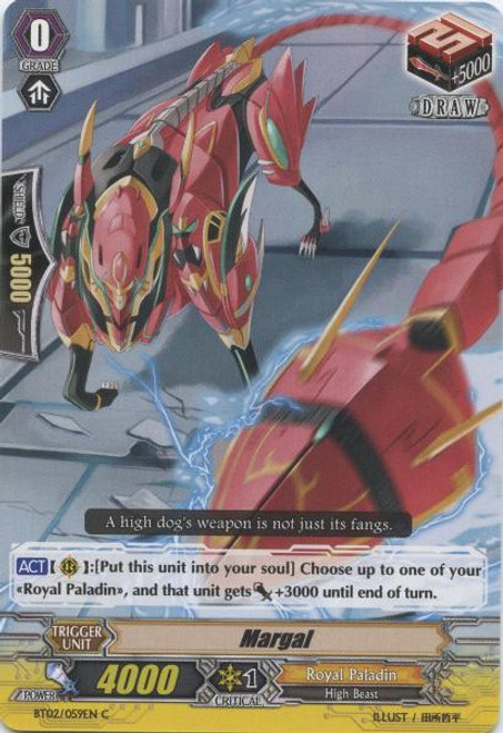 Cardfight Vanguard Onslaught of Dragon Souls Common Margal BT02-059