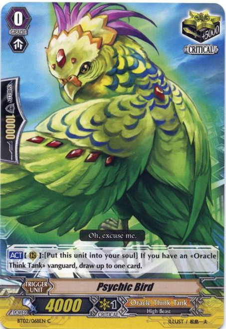 Cardfight Vanguard Onslaught of Dragon Souls Common Psychic Bird BT02-068