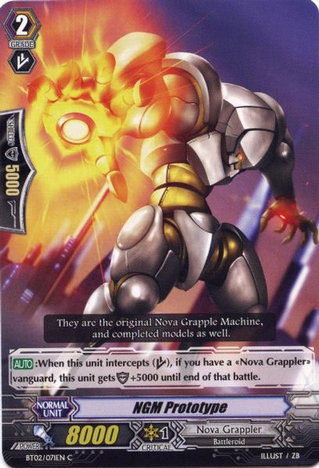 Cardfight Vanguard Onslaught of Dragon Souls Common NGM Prototype BT02-071