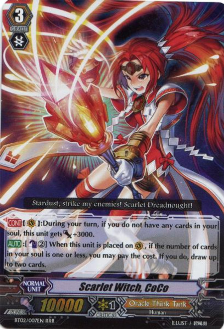 Cardfight Vanguard Onslaught of Dragon Souls RRR Scarlet Witch, CoCo BT02-007