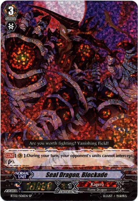 Cardfight Vanguard Onslaught of Dragon Souls SP Seal Dragon Blockade BT02-S06