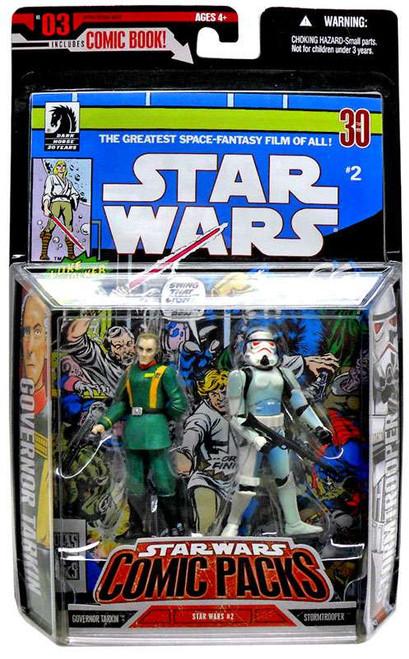 Star Wars A New Hope Comic Packs 2006 Grand Moff Tarkin & Stormtrooper Action Figure 2-Pack