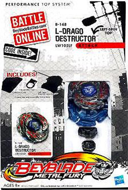 Beyblade Metal Fury L-Drago Destructor Single Pack B-148