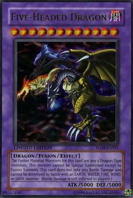 YuGiOh Structure Deck: Dinosaur's Rage Ultra Rare Five Headed Dragon SD09-ENSS1