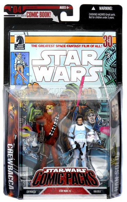 Star Wars A New Hope Comic Packs 2006 Han Solo & Chewbacca Action Figure 2-Pack