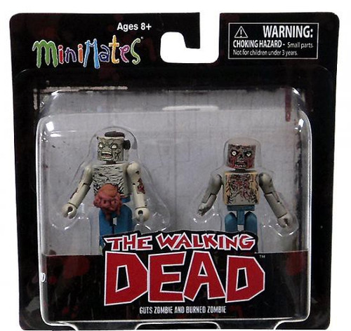 The Walking Dead Minimates Series 1 Guts Zombie & Burned Zombie Minifigure 2-Pack