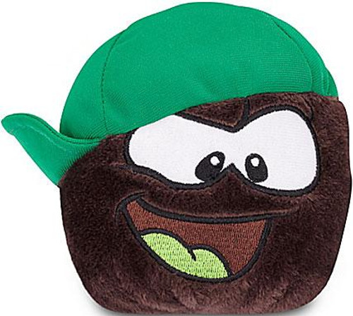 Club Penguin Series 13 Black Puffle 4-Inch Plush [Sideways Hat]