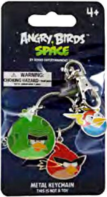Angry Birds Space Monster Bird, Super Red Bird & Lightning Bird Metal Keychains