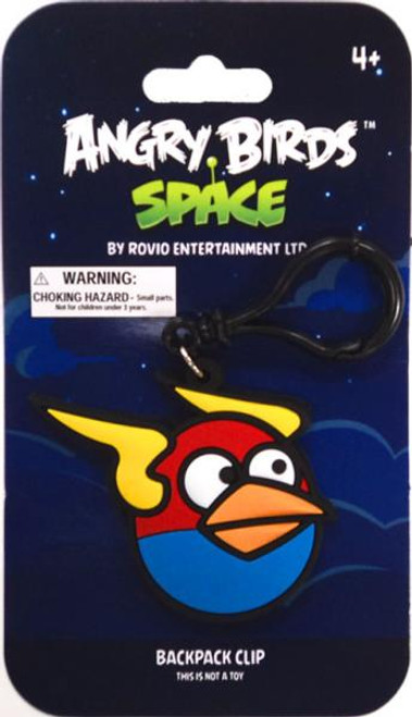 Angry Birds Space Lightning Bird PVC Backpack Clip