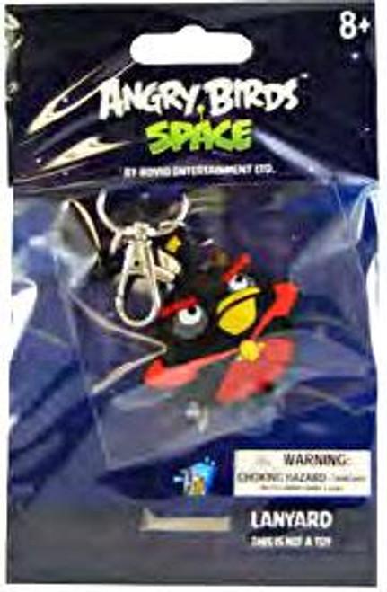 Angry Birds Space Firebomb Bird Lanyard Keychain