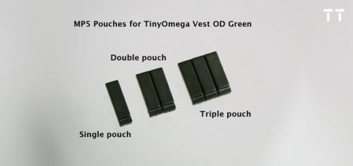 Tiny Tactical MP5 Magazine Double Pouch [Dark Olive Green]