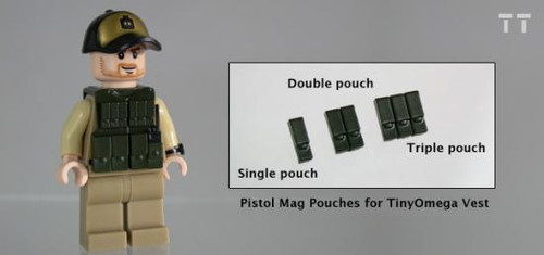 Tiny Tactical Pistol Magazine Triple Pouch [Dark Olive Green]