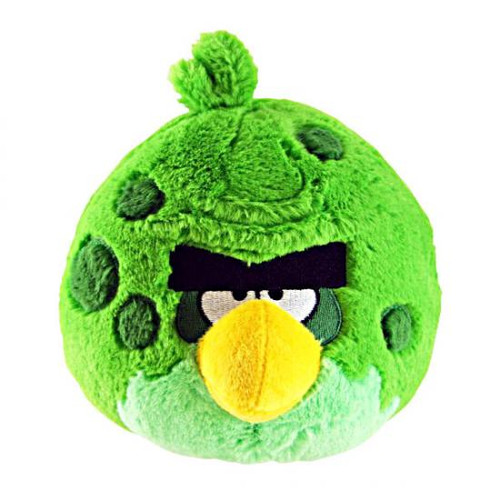 Angry Birds Space Green Monster Bird 8-Inch Plush [With Sound]