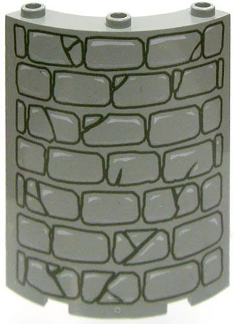 LEGO Pieces Curved Stone Wall [Loose]