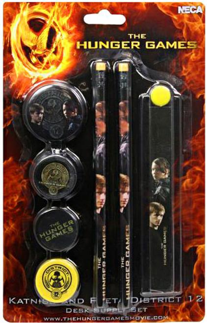 NECA The Hunger Games Katniss & Peeta Desk Supply Set