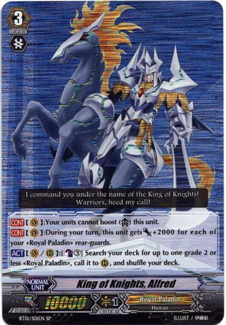Cardfight Vanguard Descent of the King of Knights SP King of Knights, Alfred BT01-S01EN