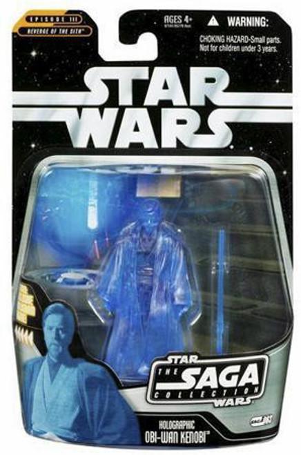 Star Wars Revenge of the Sith Saga Collection 2006 Holographic Obi-Wan Kenobi Action Figure #63 [Light Blue]