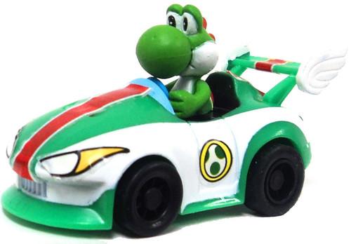 Super Mario Mario Kart Gacha Yoshi in Car 1 1/2-Inch Pull Back Racer