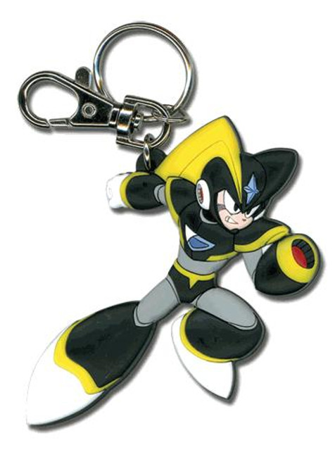 Mega Man 10 Cartoon Style Bass Keychain