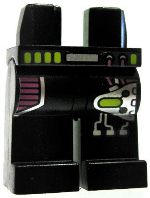 LEGO Minifigure Parts Black Legs with Purple & Silver Equipment Loose Legs [Loose]