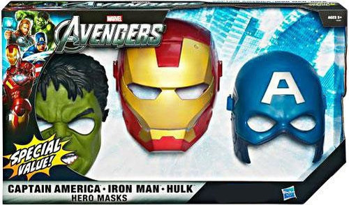 Marvel Avengers Hero Mask 3-Pack Exclusive Roleplay Toy