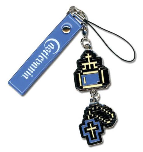 Castlevania Retro 8-Bit Cross & Holy Water Charm