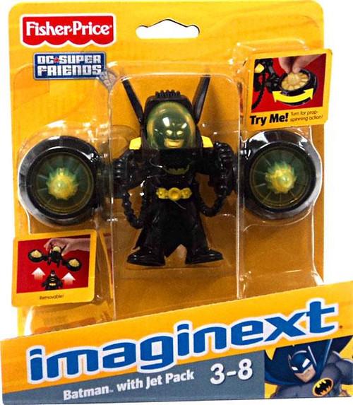 Fisher Price DC Super Friends Imaginext Batman with Jet Pack 3-Inch Figure Set