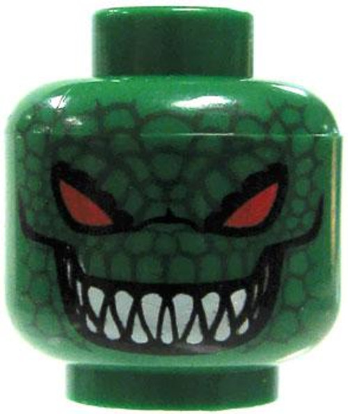 Batman LEGO Minifigure Parts Green Reptilian Face with Red Eyes Minifigure Head [Loose]