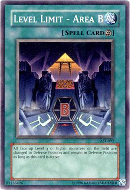 YuGiOh Ancient Sanctuary Common Level Limit- Area B AST-092