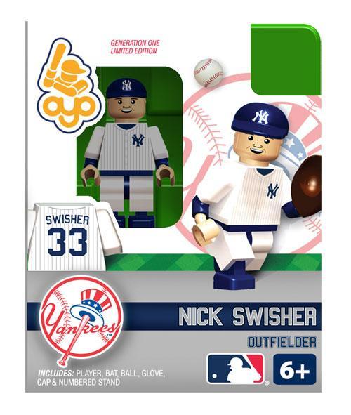 New York Yankees MLB Generation One Nick Swisher Minifigure